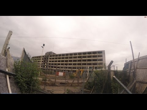 Exploring a Giant Abandoned Royal Mail Building (HIDING FROM SECURITY) - GoPro 4K