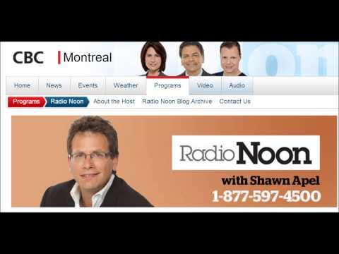 CBC Radio One Montreal Radio Noon 8.4.2014