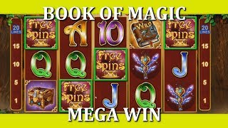 CRAZY RETRIGGERS!! MEGA WIN - BOOK OF MAGIC (meep_bleep)