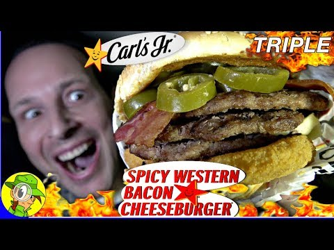 Carl's Jr.® | TRIPLE SPICY Western Bacon Cheeseburger® 🌶️🍔 | Peep THIS Out! ⭐