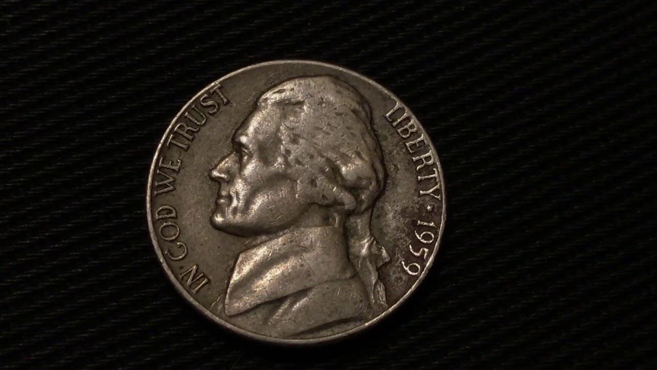 1959 D Nickel - 160,738,000 Produced