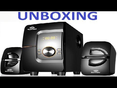 Caixa de Som 2.1 Sumay SM-CS 3690B (Unboxing)