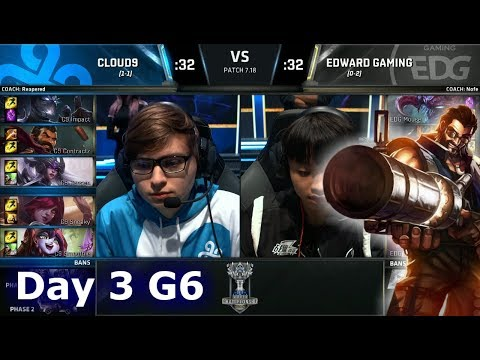 Cloud 9 vs Edward Gaming | Day 3 Main Group Stage S7 LoL Worlds 2017 | C9 vs EDG G1
