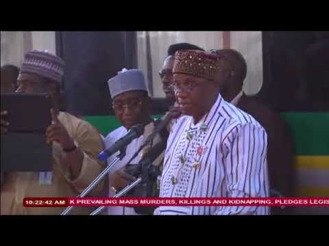 Inspection and Flag-off of New Locomotives and Coaches in Kaduna