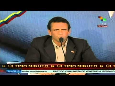 Henríque Capriles acepta oficialmente la candidatura de la oposición venezolana
