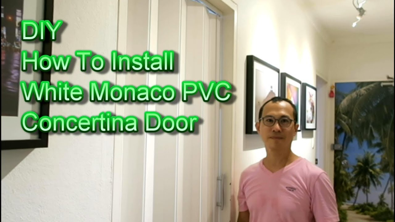 DIY How to install a PVC Concertina Accordion Folding Door  sc 1 st  YouTube & DIY How to install a PVC Concertina Accordion Folding Door - YouTube