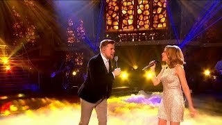 Kylie Minogue & Jamie Johnson sing