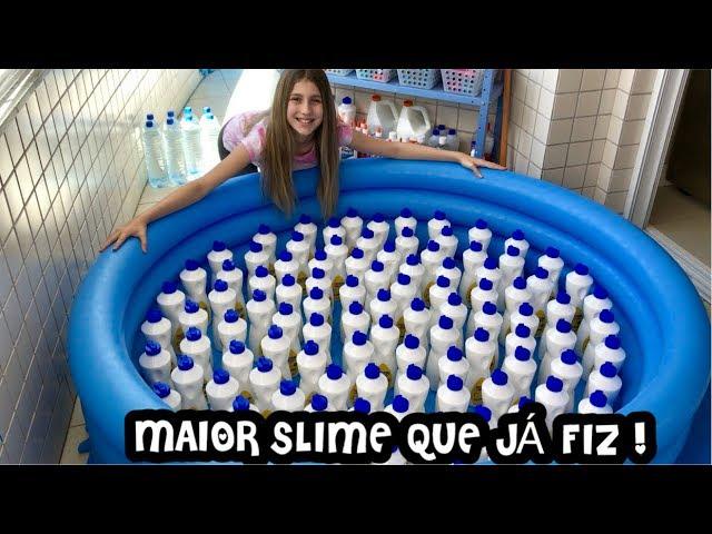 FIZ A MAIOR SLIME DO BRASIL COM MUITA QUALIDADE !!! POR SOFIASFURLANI #1