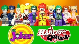 Harley Quinn & Joker Clown Prince of Crime Arkham The Dark Knight Unofficial LEGO Minifigures