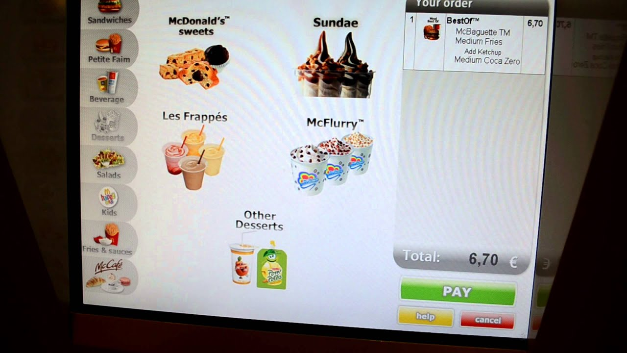 Ordering At A Mcdonald S Kiosk In France Youtube