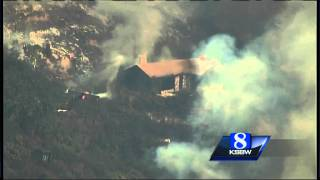 Aerial Video: Big Sur fire destroys homes