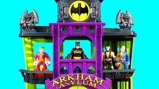 Imaginext Villains Try To Rescue Joker Riddler Mr. Freeze Bad Guys From Batman Arkham Asylum