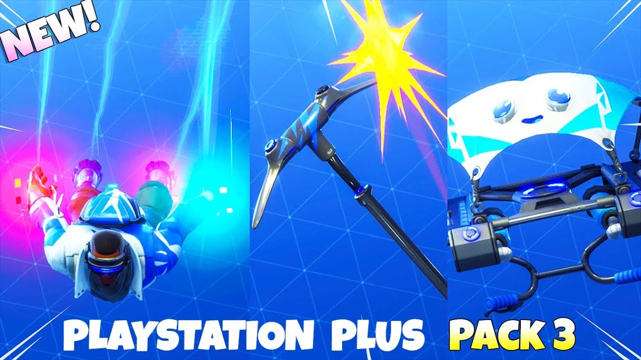 exclusive playstation plus pack 3 items showcase fortnite battle royale - playstation 3 fortnite game
