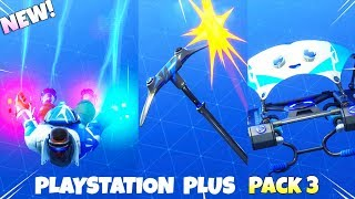 NEW! EXCLUSIVE Playstation Plus PACK #3 ITEMS! (Showcase) Fortnite Battle Royale