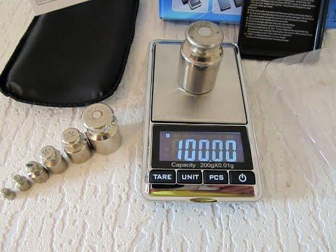 Карманные электронные весы 200г х 0,01 с Aliexpress.