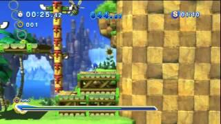 Sonic Generations - Green Hill Acte 2 - Défi 5 : Défi de turbo à 300%