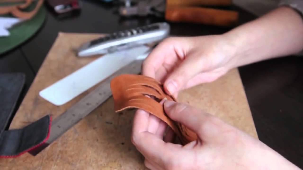 Как своими руками сделать браслет из кожи фото