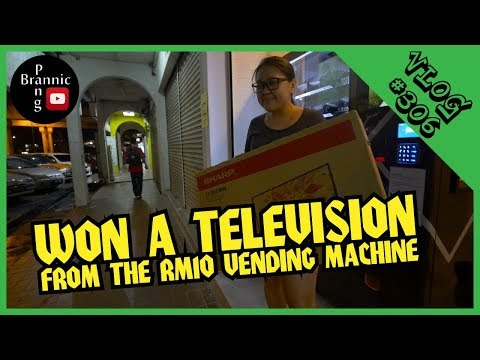 WON A TELEVISION FROM THE RM10 MYSTERY BOX VENDING MACHINE
