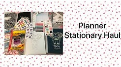 Planner Stationary Haul