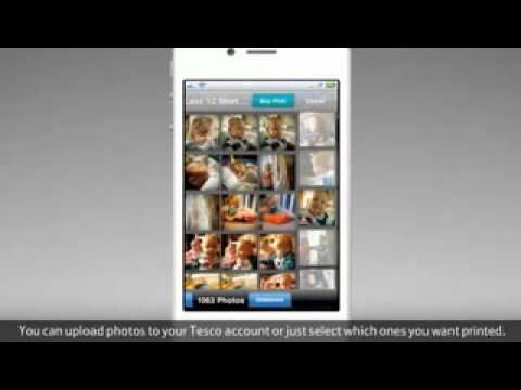how to print pos with tesco's iphone app -