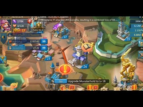 Lords Mobile Solo Trap Account Overview | Wall Heros | Research | Talents | Jewels.