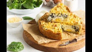 Итальянский пирог со шпинатом и яйцом