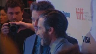 Jake Gyllenhaal and Hugh Jackman premiere Prisoners at the Toronto Film Festival