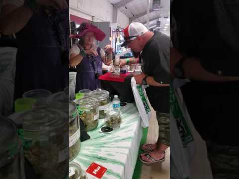 Tye Dyed Granny at the High Life Music Festival 2016 Grandma Greenz booth