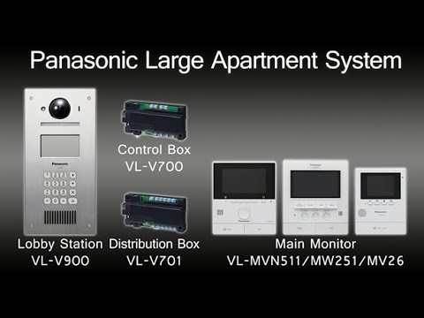 Panasonic Video Intercom System (for Apartment Complexes) - YouTube