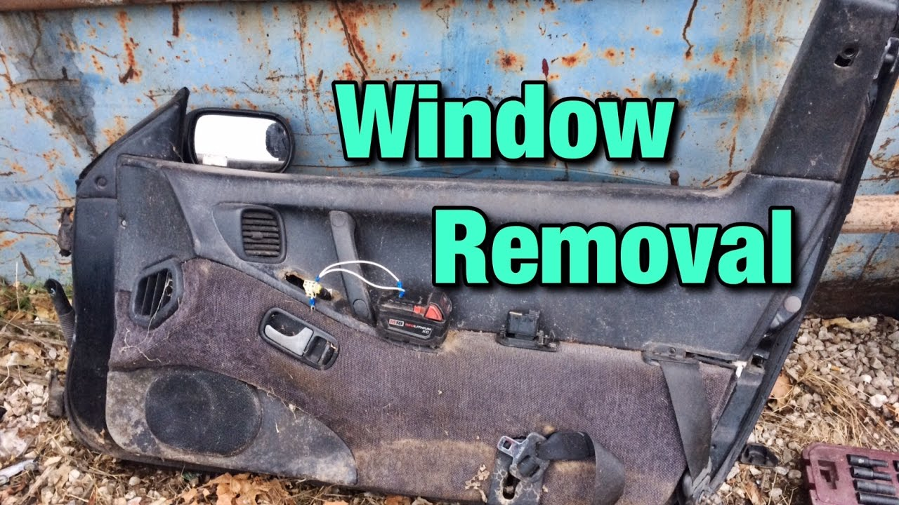 How To Remove A 300ZX Window & How To Remove A 300ZX Window - YouTube