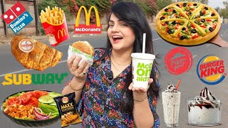 Living on FAST FOOD for 24 HOURS Challenge | Food Challenge