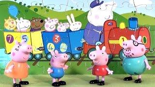 Свинка Пеппа играет в пазлы - Peppa Pig