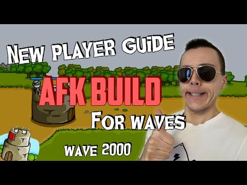 ✪ Grow Castle | New player guide  | AFK Build For Waves