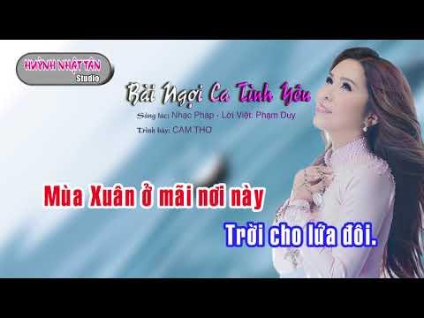 Karaoke Bài Ngợi Ca Tình Yêu Cam Thơ