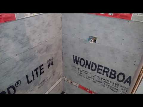 Installing Wonderboard Cement backer board to shower walls for beginners and diy home owners