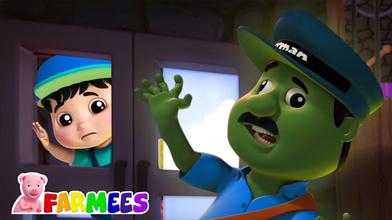 Toc toc truco o trato   Canciones de Halloween   Farmees Español   Dibujos animados