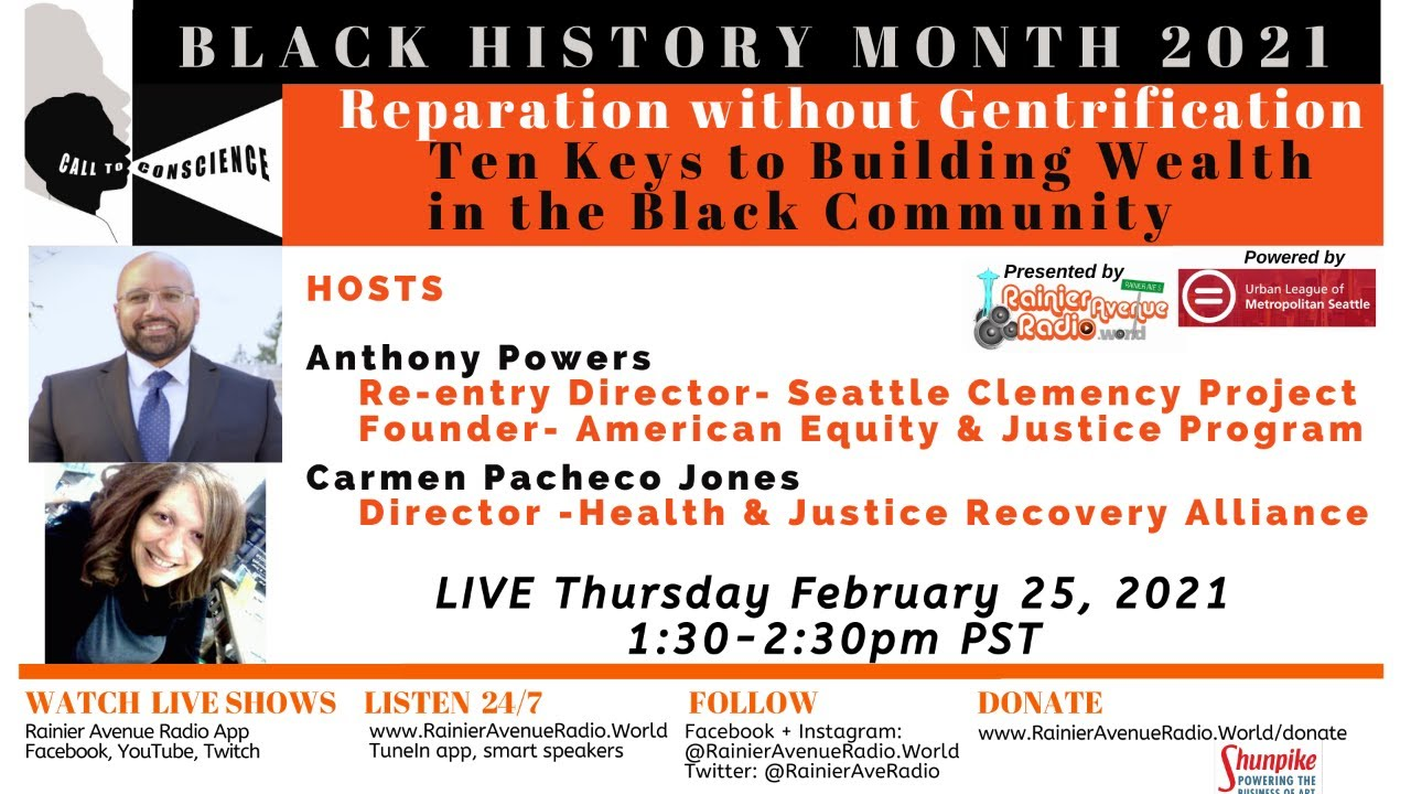 WATCH Reparation without Gentrification:10 Keys to Building Wealth in the Black Community