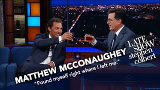 Matthew McConaughey And Stephen Drink Bourbon thumbnail