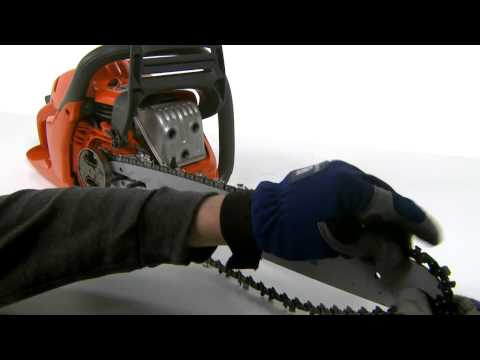 How to Fit the Bar and Chain on a Husqvarna Chainsaw