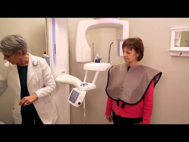 Proper dental apron use and pan imaging tips.