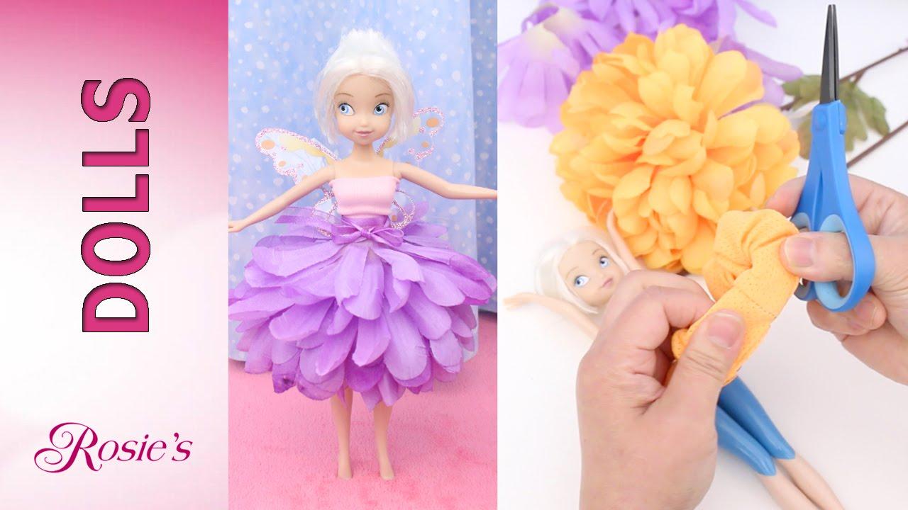 How To Make Flower Dresses For Disney Fairies Super Easy No Sew Glue