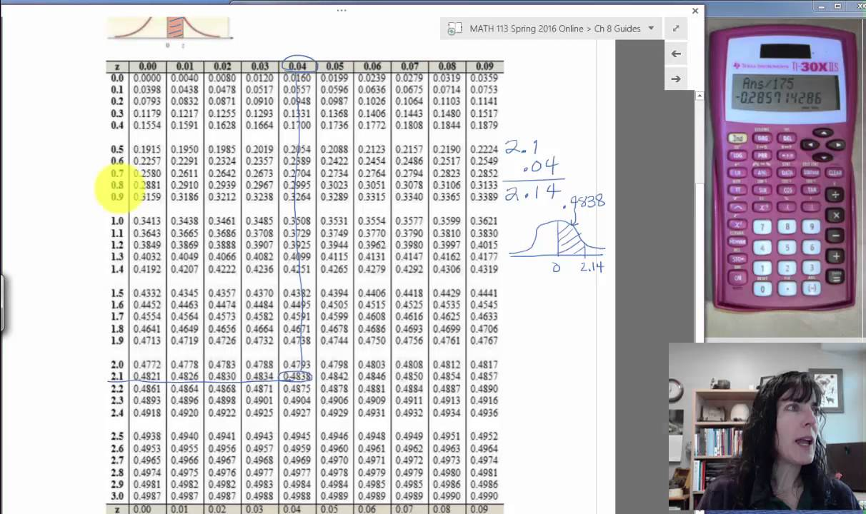 84 Normal Distribution: Find Zscore And Find Percent P39
