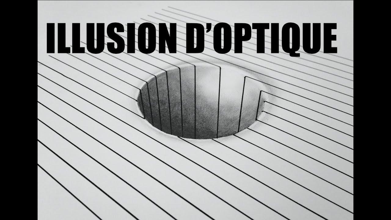 Illusion D Optique D Un Trou Dans Une Feuille 3d Youtube