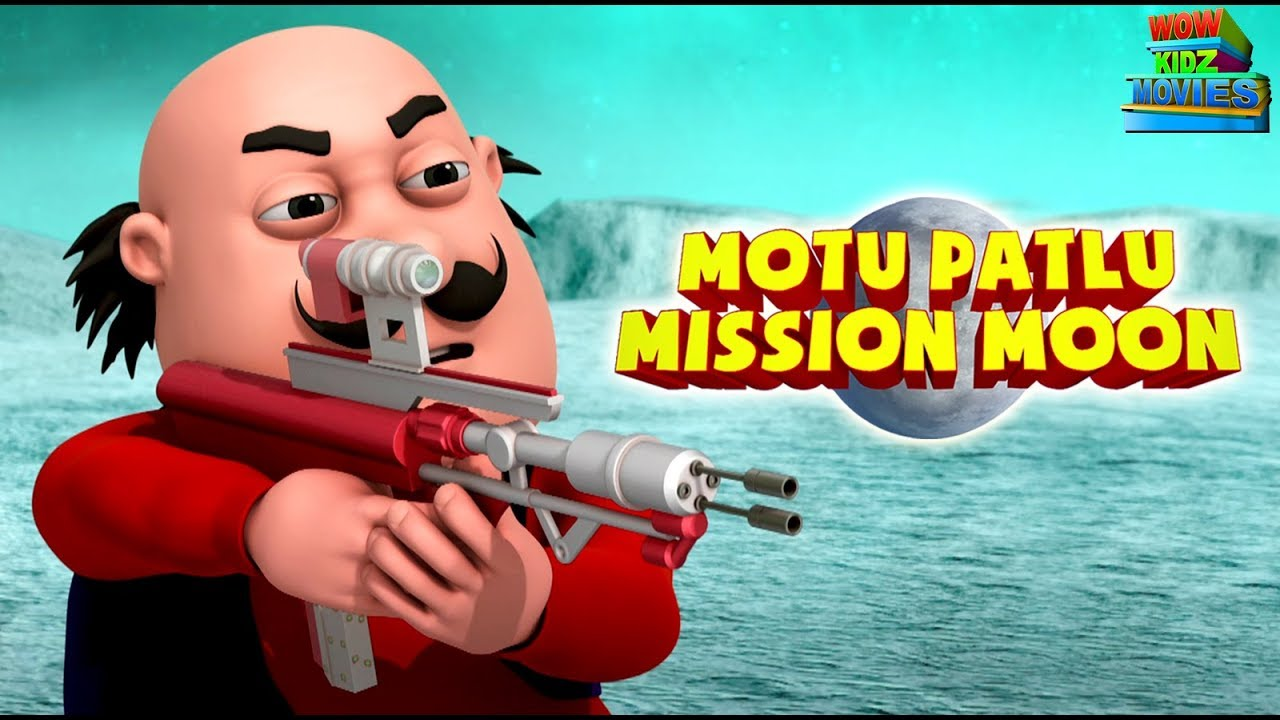 Download Motu Patlu Mission Moon - Full Movie | Animated Movies |  Wow Kidz Movies