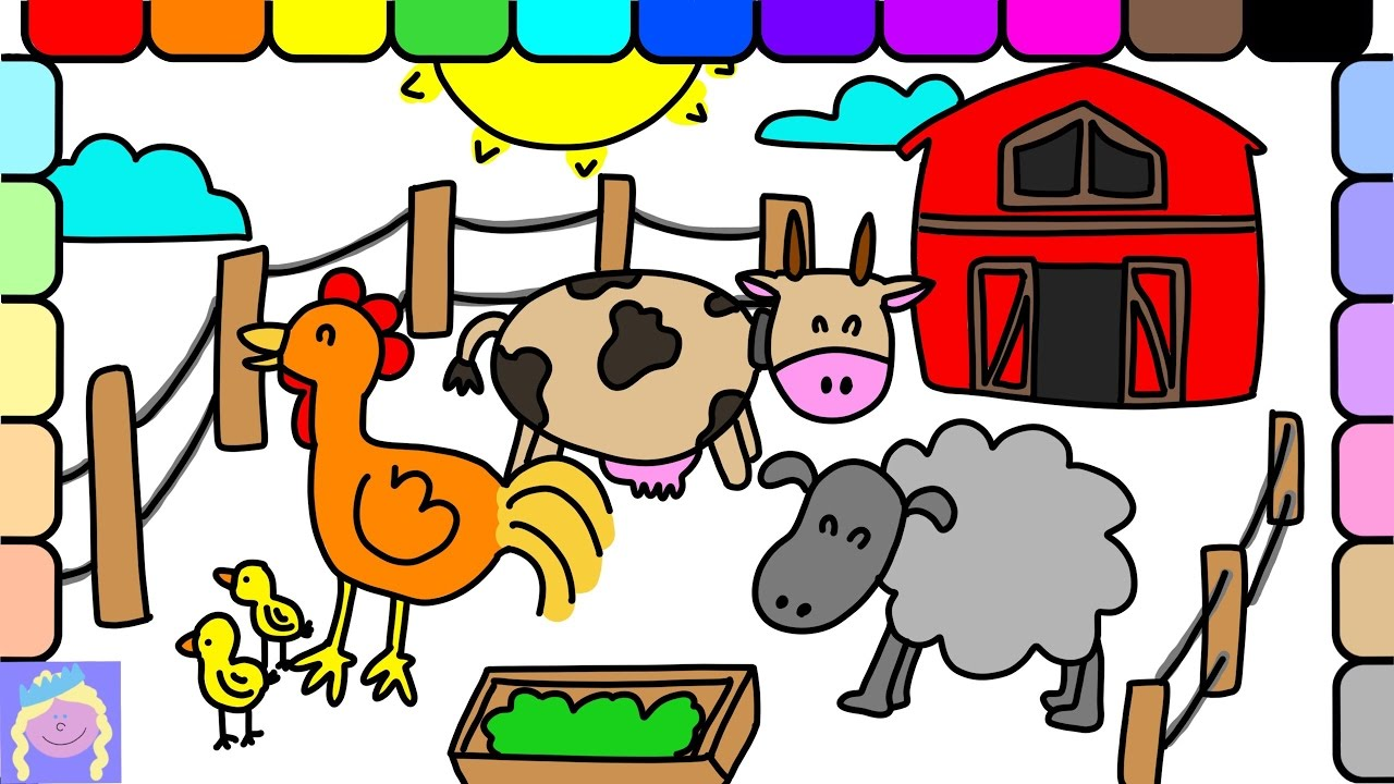 Learn How To Draw Barn Animals With This Easy Drawing And Coloring