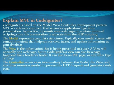 Codeigniter Interview Questions And Answers For Freshers And