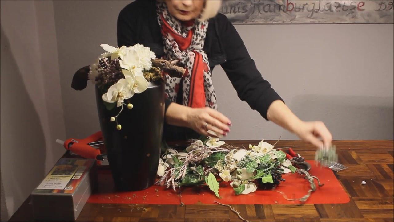 Gesteck Mit Orchideen   Bärbel´s Wohn U0026 Deko Ideen
