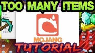 Minecraft 1.8 Mods TMI Too many items Installieren [Deutsch German] Mac PC Cheat Hack
