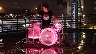 Drumming In The Rain - Cool Water Visuals