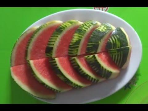 cach cat dua hau dep nhanh don gian - Cut watermelon beautiful